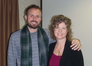 Alisen with Charles Virtue at the Mediumship Certification course.