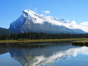 Mount Rundle as seen from below.