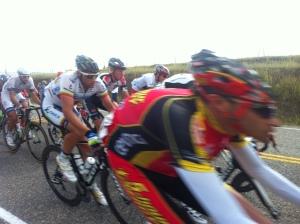 Tour of Alberta elite cyclists.