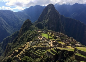 Machu Picchu - arriving after four days of hiking through the glorious countryside and high level rain forest.