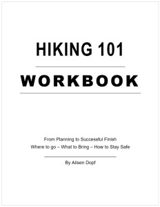 Hiking Course Workbook